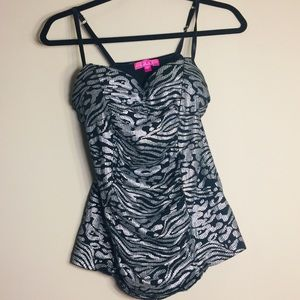 Glo Jeans padded Tank Top Size Large